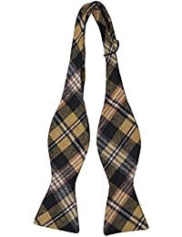 Necktie - Minichecks in white & black on orange ribbed silk Notch dLLjP