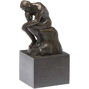 Bronze der Denker Mann Bronzeskulptur Bronzefigur nach Rodin Skulptur Replik