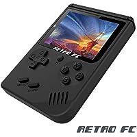 Consoles de Jeu Portables , Handheld Game Console 3 Pouces 168 Jeux Retro FC Game Console - Noir