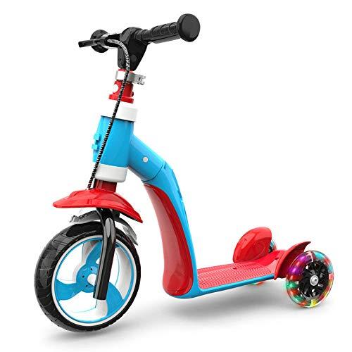 CAR- Children\'s Scooter Kinderroller Griff Höhenverstellbares Auto Mit Flash-Rad Für 1-7 Jahre Alt Kinderroller,A