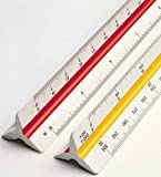 DREAM XPLORE Triangle Scale Ruler, 30cm (12 Inch) Long Plastic Drafting Scale Ruler Very Useful to Architect, Engineer…