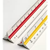 DREAM XPLORE Triangle Scale Ruler, 30cm (12 Inch) Long Plastic Drafting Scale Ruler Very Useful to Architect, Engineer,Studen