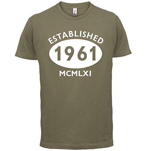 Gegründet 1961 Römische Ziffern - 56 Geburtstag - Herren T-Shirt - 13 Farben Khaki