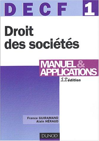DECF, numéro 1 : Droit des sociétés
