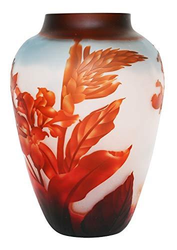 aubaho Vase Replika Nach Galle Gallé Glasvase Glas Antik-Jugendstil-Stil Kopie i