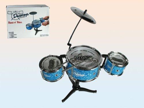 Preisvergleich Produktbild Out of the blue 76/6173 - Mini-Schlagzeug, Desktop Drumkit mit 2 Drumsticks, circa 44 x 34 cm
