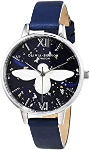 Olivia Burton Womens Quartz Watch, Analog Display and Leather Strap OB16GD04
