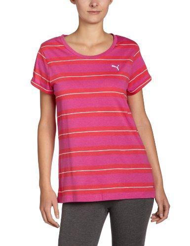 Puma T-shirt rayé pour femme Rose