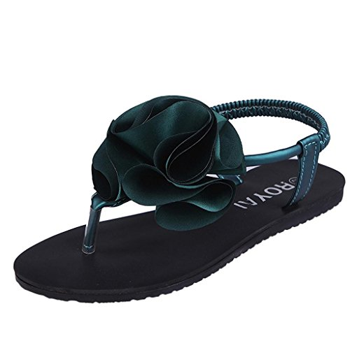 Sandalen Damen, Covermason Frau Böhmen Peep-Toe Outdoor Flache Schuhe Grün