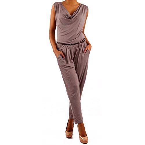 Made Italy - Combinaison - Relaxed - Uni - Sans Manche - Femme Beige - Latte