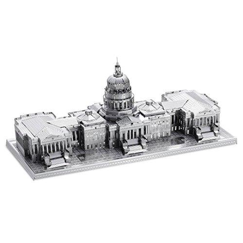 Fascinations Metal Earth ICX002 - 502933, U.S. Capitol, Konstruktionsspielzeug, 2 Metallplatinen, ab 14 Jahren (Capitol Building Us)