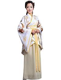 BOZEVON Mujeres Antiguo Disfraz - Ropa Tradicional de Estilo Chino Vestido Hanfu Traje Tang - Disfraz