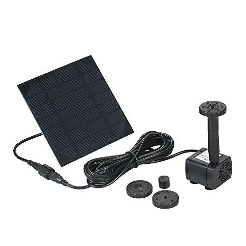 Anself pompa acqua solare / fontana solare /pompa d'acqua a energia solare di 7v, 1.12w - per laghetto, giardino