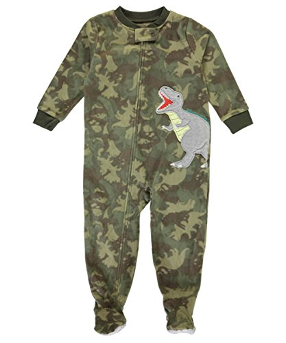 carters-baby-boys-t-rex-roar-footed-pajamas-olive-multi-12-months