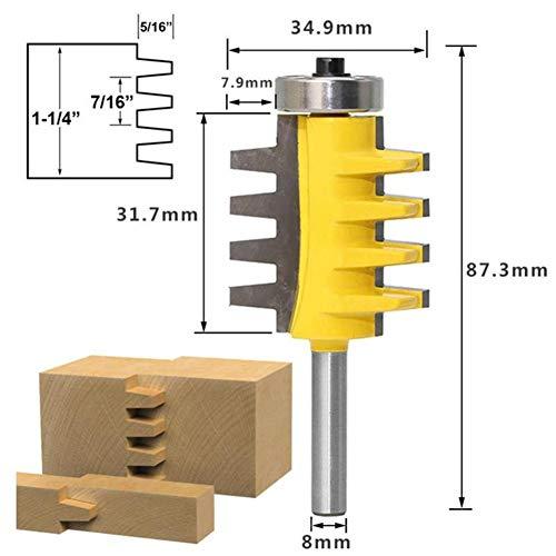 Petansy Reversible Shank Finger Joint Glue Router