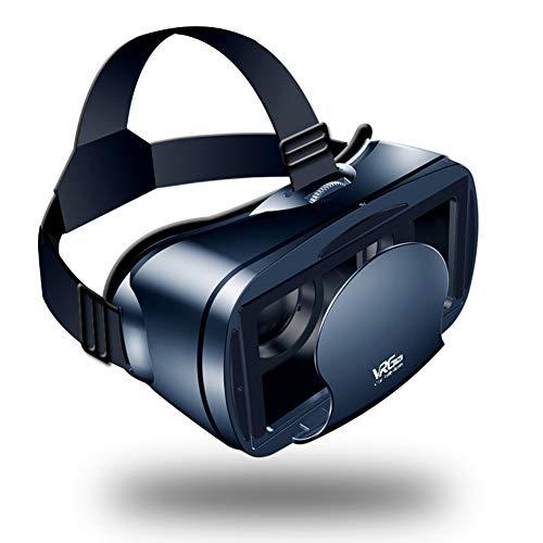 Blau vergütete Linsen Virtual Reality Brille, Vr Brille Headset, 800 Grad Myopie 120 Grad-Sichtfeld Kompatibel mit 4-7 Zoll-Smartphones