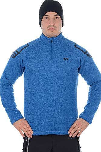 Stayer Pullover Herren-Pulli Skirolli Sweater Ski-Hemd Winter-Rollkragen-Pulli Langarm Blau (XL) -