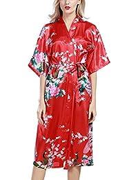 6678678cef Amazon.es  flores rojas - S   Batas y kimonos   Ropa de dormir  Ropa