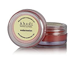 Khadi Natural Watermelon Lip Balm with Beeswax and Shea Butter,10gm(pack of 2)