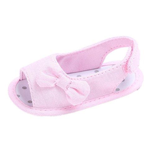 Chaussures de bébé Auxma Baby Girls Summer Princess First Chaussures de marche Bow Shoes Sandals (6-12 M, Jaune) Rose