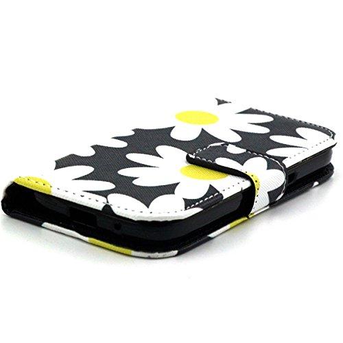 iPhone 6 4.7 Custodia pelle, iPhone 6S Flip Cover Magnetica, Felfy Rosa Smile Design Portafoglio Flip Folio PU Leather Chiusura Magnetica Cuoio Wallet Libro Custodia Caso Copertura Protettiva Support Risantemo