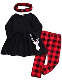 QUICKLYLY Conjuntos De Navidad para Bebé Niña Niño Infantil Regalo Santa  Ropa Invierno 47db7c729f7f