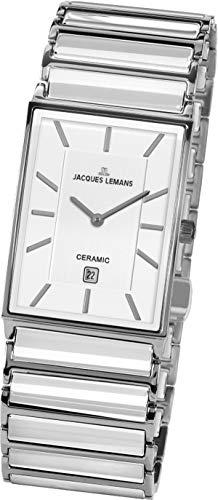 JACQUES LEMANS Reloj Analógico para Hombre de Cuarzo con Correa en Acero Inoxidable 1-1593.1E