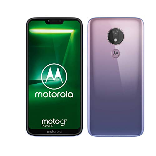 moto g7 power Dual-SIM Smartphone (5000mAh Akku, 6,2 Zoll Display, 12-MP-Kamera, 64GB/4GB, Android 9.0) Iced Violet