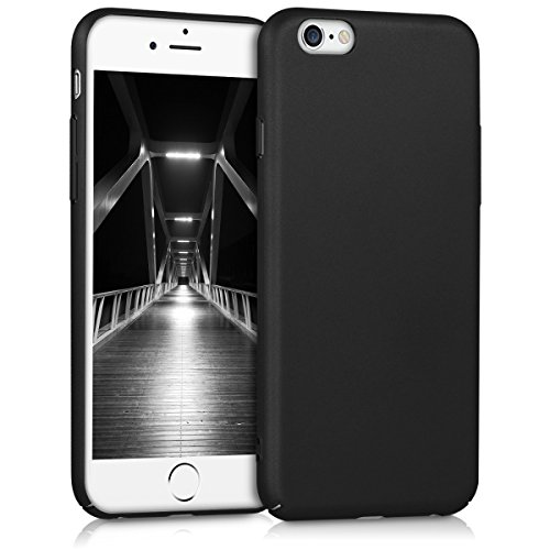 kwmobile Apple iPhone 6 / 6S Hülle - Handy Cover Case Schutzhülle - Backcover Hardcover für Apple iPhone 6 / 6S Schwarz Kunststoff Case