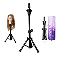 Mannequin Head, Missicee Stainless Steel Adjustable Tripod Stand Head Stand For Hairdressing Head Training Head Mannequin Head