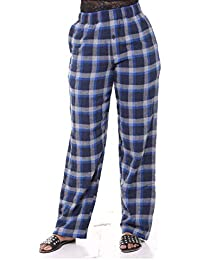 Twist Womens Multicolor Checked Cotton Pyjama Night Wear with Contrast & Free Shipping