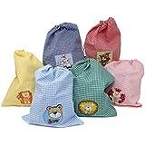 Haberdashery Online Bolsa Merienda Infantil con Parche Decorativo. Color A Elegir. 24 x 29 cm