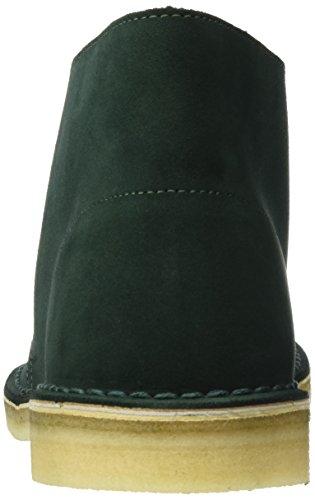 Clarks Originals Desert Boot, Polacchine Uomo Verde (Dark Grün Suede)