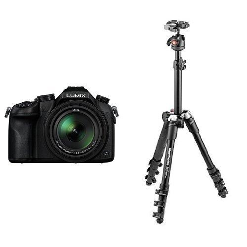 Panasonic DMC-FZ1000EB Lumix Bridge Camera (25-400mm LEICA DC Lens) with Manfrotto Befree One Aluminium Tripod