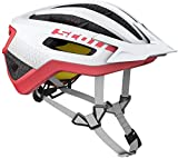 Scott Fuga Plus XC Bicicleta de montaña Casco Blanco/Rojo 2018, White/Melon Red