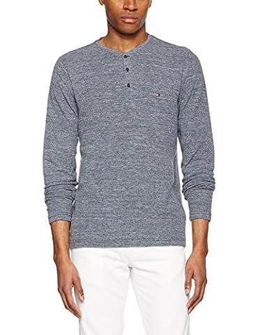 Tommy Hilfiger Herren Sweatshirt Bram Henley L/S RF, Blau (Navy Blazer Htr 289), Medium