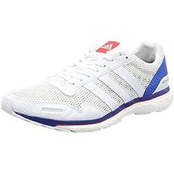 adidas Adizero Adios Boost 3 Aktiv M White White Blue, Blanco, 7.5 US