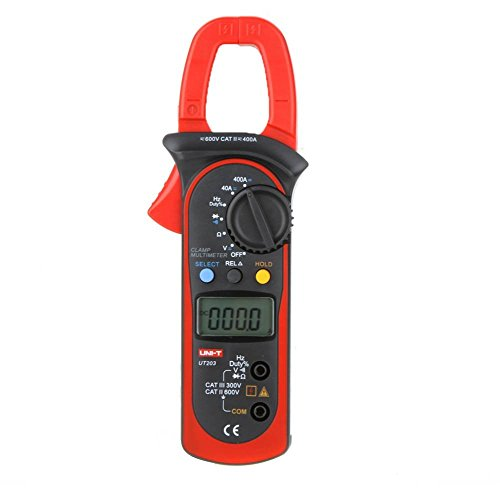 UNI-T UT203 Aktuelle Digitales Clamp Universalmessgerät Multimeter Handgehaltene Messzange Widerstands Frequenztester Voltmeter Stromkreisprüfer AC DC Digital Clamp Meter