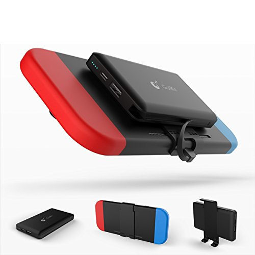 Miavogo Backup-Akku Powerbank Akkuladegerät für Nintendo Switch Tragbar für Reise Camping 10000 mAh
