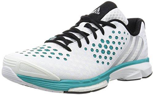 adidas Damen Volleyballschuhe Volley Response Boost ftwr white/matte silver/shock green s16 38