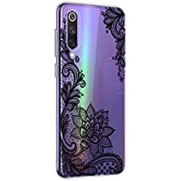 Oihxse Mandala Flores Encaje Patrón Serie Case Compatible con Samsung Galaxy A6S Funda TPU Silicona Suave Protector Ultra Slim Anti-Rasguño Transparente Carcasa (A7)