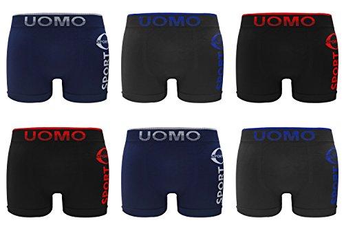 Herren Boxershorts Seamless Retroshorts 6er Pack Mehrfarbig