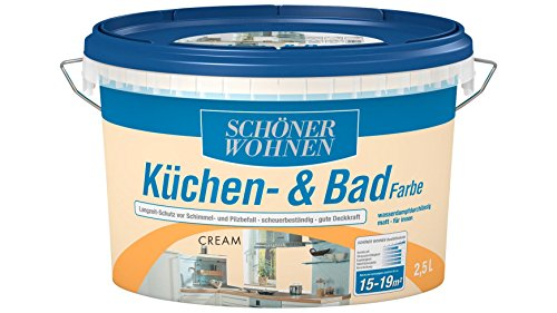 SCHÖNER WOHNEN FARBE Küchen- & Badfarbe, cream 2 l, cream