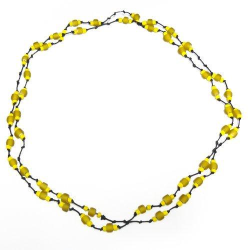 chic-net-baumwollkette-black-chain-wax-cotton-with-yellow-glass-beads-handgefadelt-115cm-long