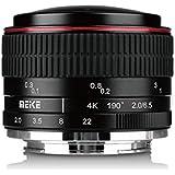 Meike MK 6.5mm f / 2.0 Lentille à foces circulaires pour Fujifilm X-Mount Caméra X-Pro1 X-Pro2 X-E1 X-M1 X-A1 X-E2 X-T1 X-A2 X-T10 X-E2 X-T2 X -A3 avec le tissu propre Adison Tek. (Fuji)