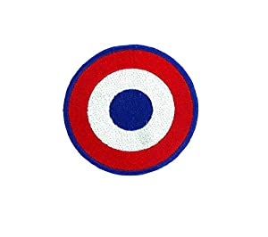 Patch ecusson brode aviation drapeau airforce cocarde france francais