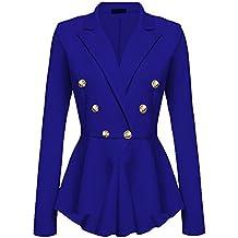 Kasen Abrigo Mujer Blazer Americana Traje Slim Chaqueta del Traje OL  Mujeres Botón de Metal 230c9301fb2b