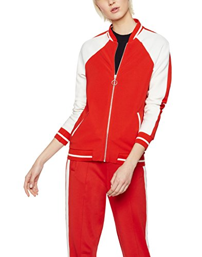 find-zip-sudadera-para-mujer-rojo-sports-red-ivory-black-x-small