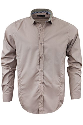 Brave Soul - Chemise casual - Avec col - Manches Longues - Homme Dirty Pink