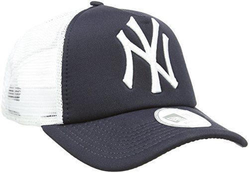 New Era Unisex Baseball Cap Mütze MLB Clean Trucker NY Yankees, Navy/White, One Size, 10531936 (Hats Trucker Era New)